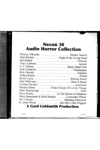 "The Official Web Site of Author Matt Bechtel, Titles: Necon 30 Horror Audio Collection (featuring ""The Nigh of the Living Dead"")"