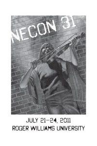 """The Official Web Site of Author Matt Bechtel, Titles: Necon 31 Program Book (featuring """"A Man Walks Into a Bar"""")"""